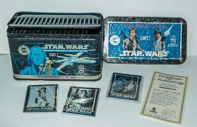 Star Wars A New Hope Metalllic Impressions Metal Cards Tin Set Of 20 +Promo Card