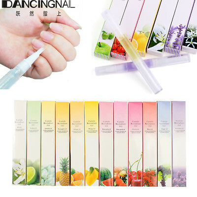 12Pcs Mixed Fruit Taste Cuticle Revitalizer Oil Pen Nail Care Manicure Treatment