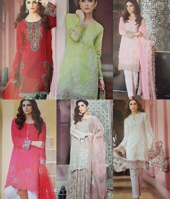 Pakistani Indian Mariya.B  Designer  replicaUnstitched Lawn collection  Suits