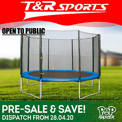 POP MASTER 6FT Curved Trampoline Free Spring Basketball Hoop FREE DELIVERY/T&C