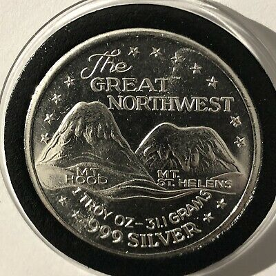 Jewell Shaft Sunshine Mine 1 Troy Oz .999 Fine Silver Round Collectible Coin