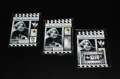 3X Marilyn Monroe's Remnants Very Rare Authentic Collectible Worn By Artist