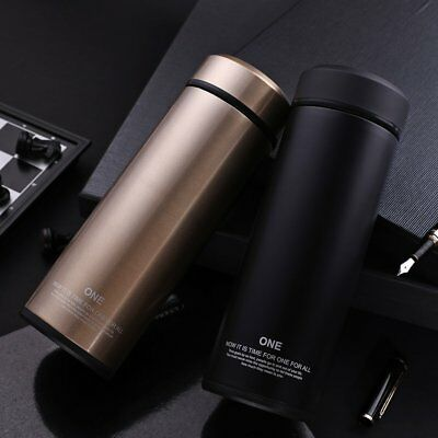 New!Glass Liner Insulated Travel Coffee Mug Vacuum Flask Stainless-Steel Thermos