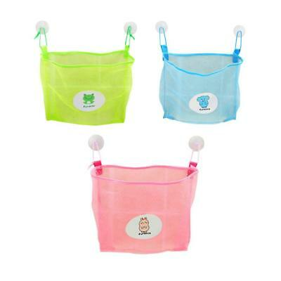 Baby Child Kid Bath Toy Bag Net Storage Bathroom Suction Organizer Mesh Su UKGRL
