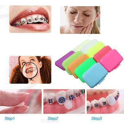 3pcs Orthodontic Dental Flavoured Relief Wax For Brackets Braces Gum Irrit UKLQ