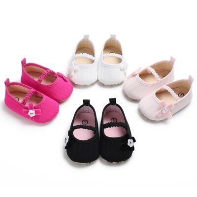 Baby Girl Toddler Bowknot Breathable Newborn Causal Sneakers Non-slip Crib Shoes