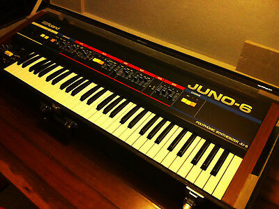Roland Juno 6 Polyphonic Vintage Analogue Synthesizer with Genuine Hard Case