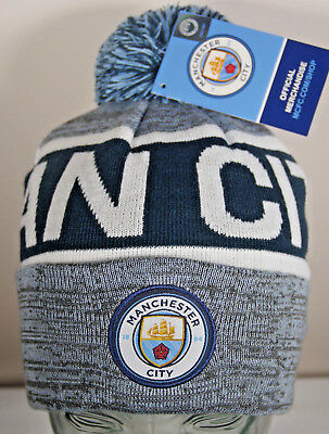 b904c3ff961d7 NEW Manchester City FC Beanie Ski Hat Winter Soccer Official License EPL  Gear