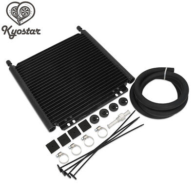 25 Row 8000 Type Plate& Pin Engine Transmission Aluminum Oil Cooler Kit -AN6
