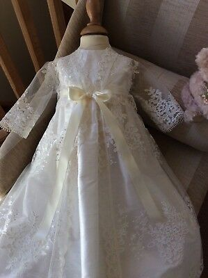 Christening Gown With Lace Coat Christening Coat And Dress Bonnet Girls Baptism