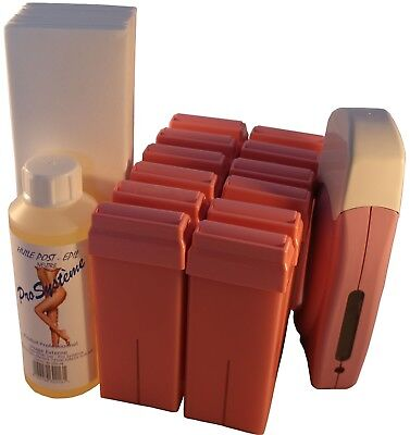 Kit Epilation A La Cire 12 Roll-On De 100 Ml + 1 Huile De 250 Ml + 250 Bandes