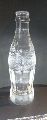 Exciting Crystal Coca-Cola ( Coke )  Bottle -  Wonderful Condition  Made in USA