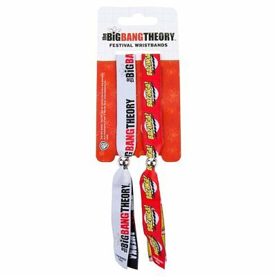 2x The Big Bang Theory Bazinga Festival Woven Wristbands Bracelets Official