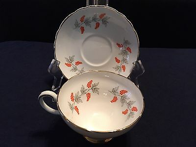 Collectable Fine Bone Crown China Staffordshire England Tea Cup And Saucer