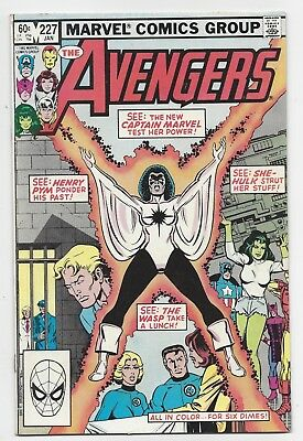 Marvel Comics: Avengers #227 - Featuring Captain Marvel (1983) Postage Discount
