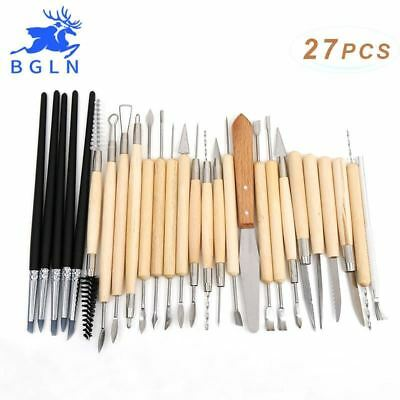 27pcs Silicone Rubber Shapers Pottery Clay Sculpture Carving Modeling Pottery Ho