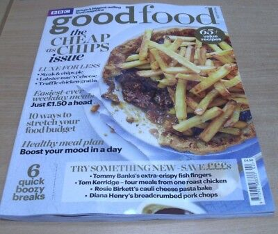 BBC Good Food magazine FEB 2018 Cheap as Chips Issue, Easy Weekday Meals, Budget