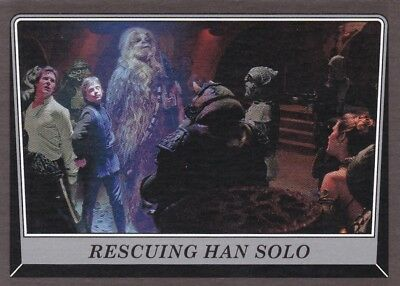 2016 Topps Star Wars Rogue One: Mission Briefing,RESCUING HAN SOLO,(Black)
