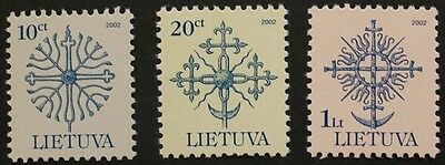 Definitive series, Ironwork stamps, 2002, Lithuania, SG ref: 720-722, MNH
