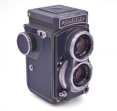 Rolleiflex 4x4 Gray Baby Replacement Cover - Genuine Leather