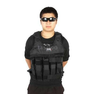 Max Loading 50kg Adjustable Weighted Vest Weight Jacket Exercise Boxing U5R6