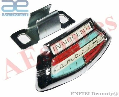 Lambretta Li Series 2 & 3 Chrome Horncast Badge & Clip Innocenti @au