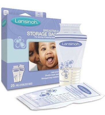 ✅Lansinoh Breastmilk Storage Bags - 25 Pre-Sterilized Bags #1 Best Selling
