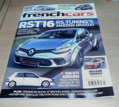 Performance French Cars magazine MAR/APR 2018 RST16, Peugeot 306 V6, 106 GTI &