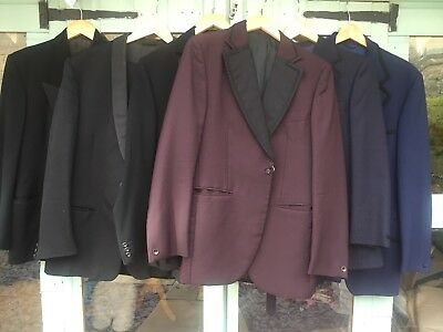 Job lot of 6 x genuine Men's vintage evening jackets & suits