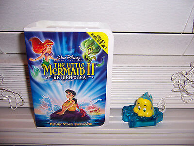 McDonald's Little Mermaid II FLOUNDER The Fish  Figurine W/Showcase 2000 #2