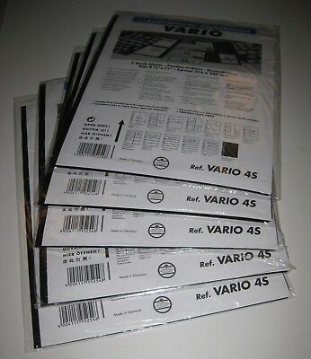 NEW Lighthouse Vario 4-S Stock Pages 5 packs, 25 pages - Black, Double-Sided