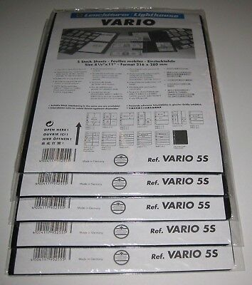 NEW Lighthouse Vario 5-S Stock Pages 5 packs, 25 pages  - Black, Double-Sided