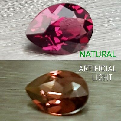 WaterfallGems Rhodolite Garnet Pear, 8x6mm, 1.44ct
