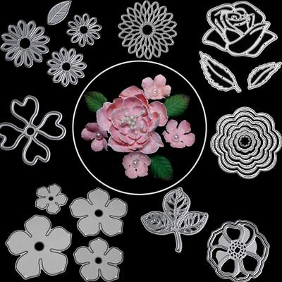 Rose Flower Leaves Metal Cutting Dies For Scrapbooking Die Cut DIY Paper Cards C