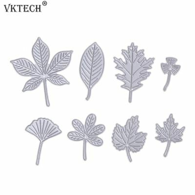 8PCS Leaves Metal Cutting Dies for Scrapbooking Photo Album Decorative Embossing