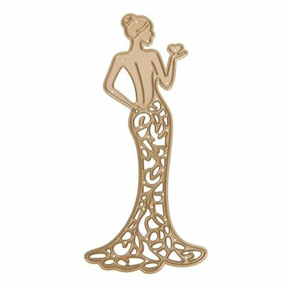 Gold Bride Hollow Metal Cutting Dies Stencils Scrapbooking Die Cuts Photo Album