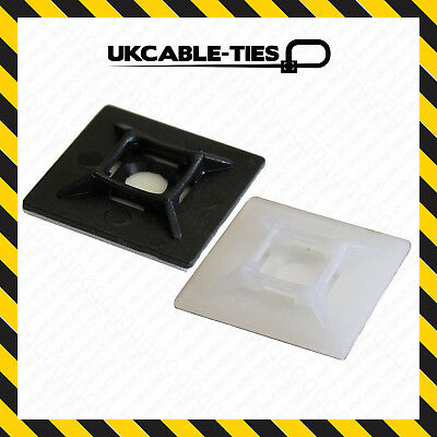 100x Self Adhesive Cable Tie Mounts Clips for Wire, Cable, Conduit, Tubing