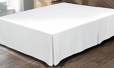 1 QTY Bed Skirt  All Size 100% Cotton 1000 Thread Count White  Solid