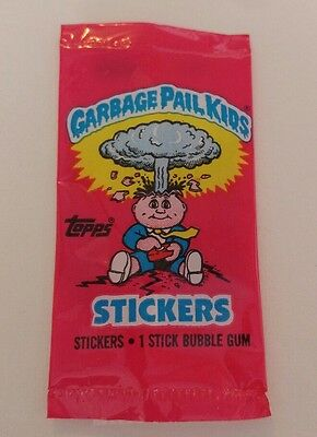 1985 Garbage Pail Kids Series 1 UK minis empty wrapper (no cards)