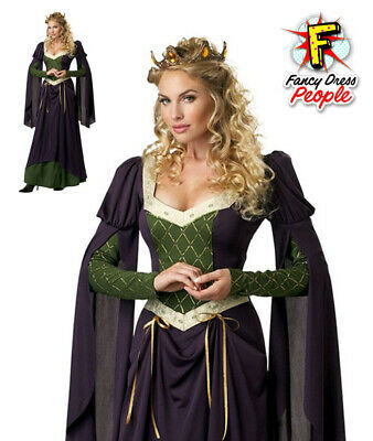 Lady Guinevere Renaissance Queen Plus Size Fancy Dress Ladies