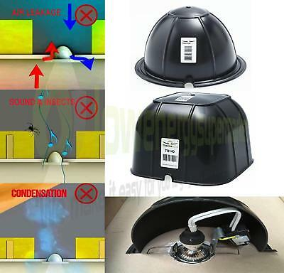 Thermahood Loft Insulation Light Fitting Cover, draught dust & insect proofing,