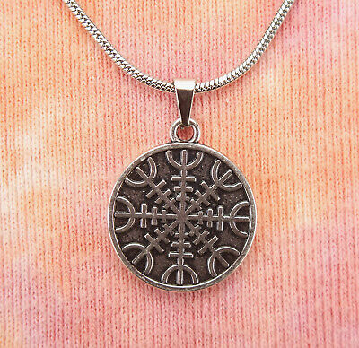 Helm of Awe Necklace, Viking Norse Icelandic Magical Stave Sigil Charm Pendant