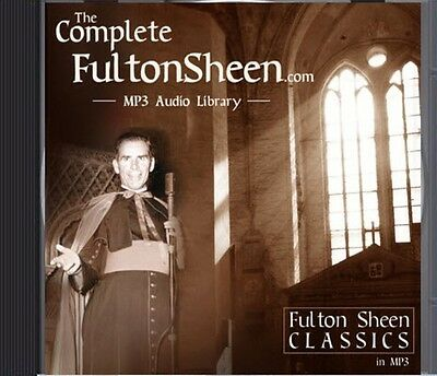Catholic Vault - Fulton Sheen Complete Audio Library on DVD storage - NEW