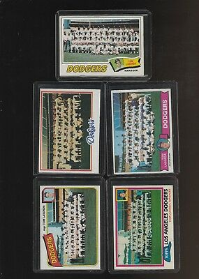 1977 1979 1978 1981 1980 Topps Dodgers Team 5 Card Lot