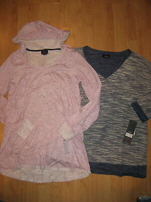 NEW Motherhood Oh Baby maternity womens hood medium top shirts lot knit sweater