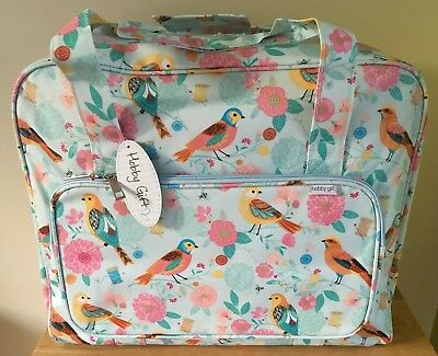 SEWING MACHINE BAG CARRY CASE STURDY VINYL 'Birdsong' Design SUPER QUALITY