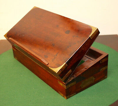 A Stunning c19th Antique Campaign Writing Slope, Secret Compartment, Handford