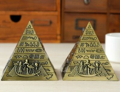 Metal Egyptian Pyramids Figurine Building Statue Office Decor Gift Souvenir Home