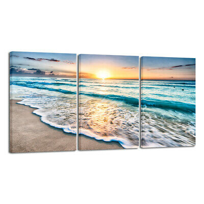 Canvas Print Painting Pictures Wall Art Home Decor Sea Beach Sunrise Landscape