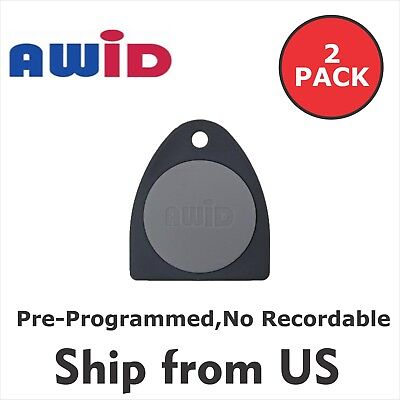 2 pack AWID Fobs 26 bit  Access Control KEY TAG Pre-Programmed , No Recordable